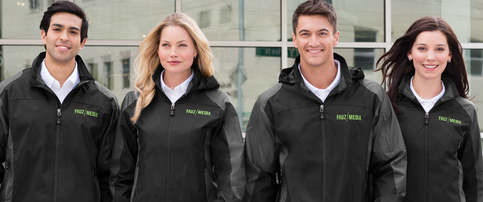 Design custom jackets for your organization, featuring your logo!