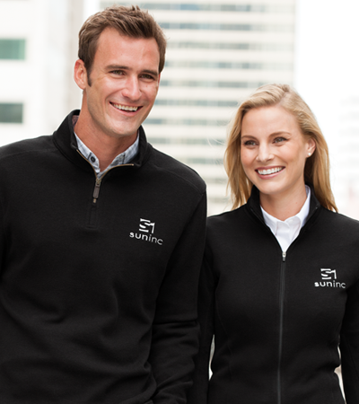 Branded layers keep your group's logo visible in any weather.